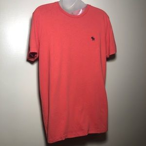 Small ABERCROMBIE & FITCH MENS Coral Orange Soft T